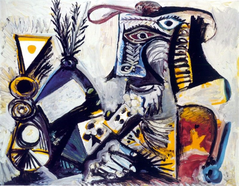 1971 Homme aux cartes. Pablo Picasso (1881-1973) Period of creation: 1962-1973