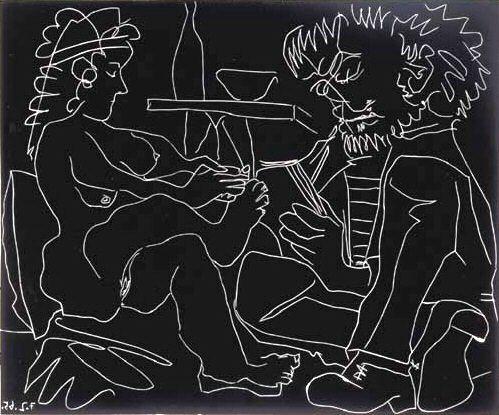 1965 Le peintre et son modКle 4. Пабло Пикассо (1881-1973) Период: 1962-1973