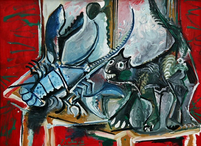 1965 Chat et homard. Pablo Picasso (1881-1973) Period of creation: 1962-1973