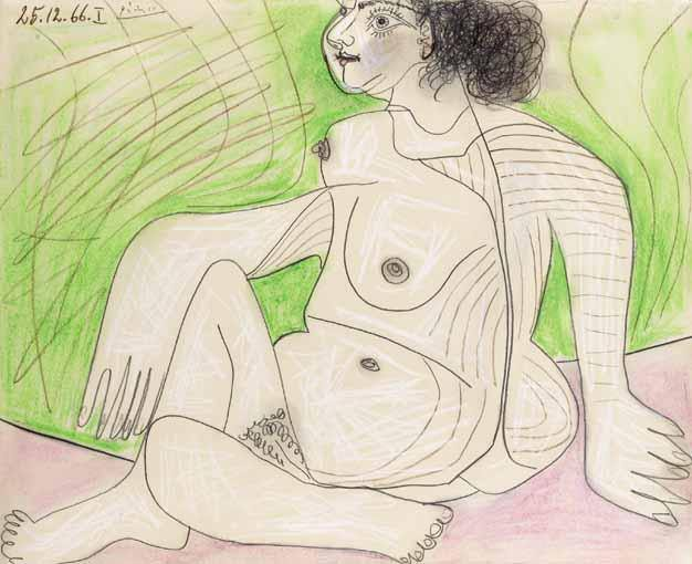 1966 Femme nue assise. Pablo Picasso (1881-1973) Period of creation: 1962-1973
