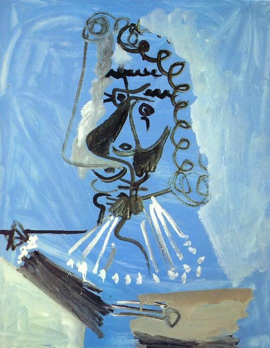 1967 Le peintre 2. Pablo Picasso (1881-1973) Period of creation: 1962-1973