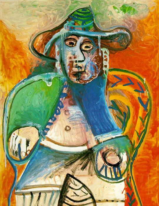1970 Vieil homme assis. Pablo Picasso (1881-1973) Period of creation: 1962-1973