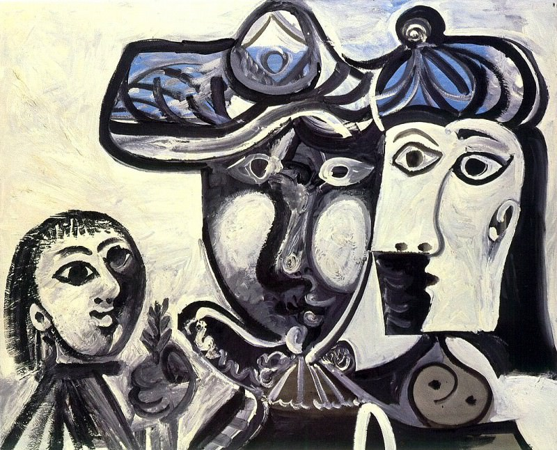 1969 Homme, femme et enfant. Пабло Пикассо (1881-1973) Период: 1962-1973