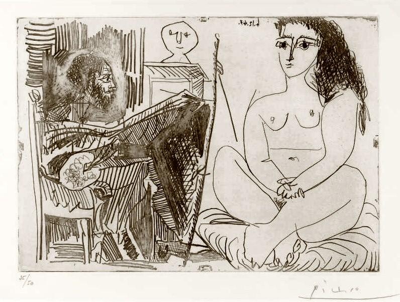 1964 Peintre et modКle. Pablo Picasso (1881-1973) Period of creation: 1962-1973