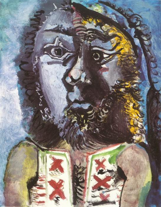 1971 Lhomme au gilet. Пабло Пикассо (1881-1973) Период: 1962-1973