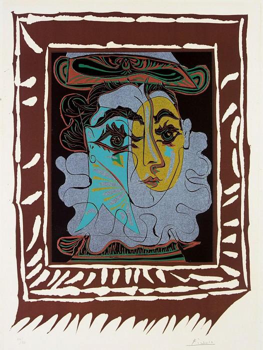 1963 Femme au chapeau. Pablo Picasso (1881-1973) Period of creation: 1962-1973