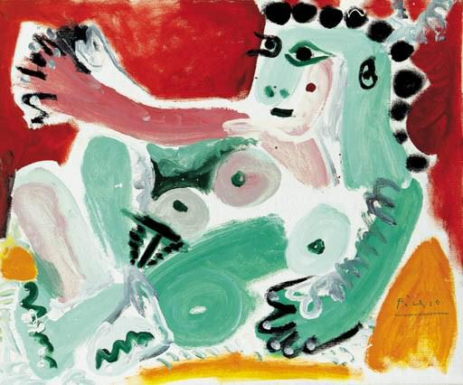 1964 Nu assis appuyВ sur des coussins (Jacqueline). Пабло Пикассо (1881-1973) Период: 1962-1973