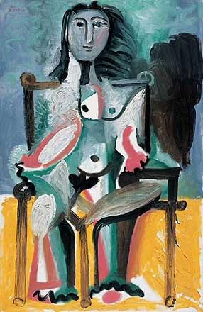 1963 Nu assis dans un fauteuil I. Pablo Picasso (1881-1973) Period of creation: 1962-1973