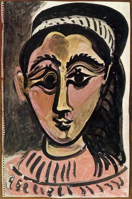 1962 TИte de femme 3. Пабло Пикассо (1881-1973) Период: 1962-1973
