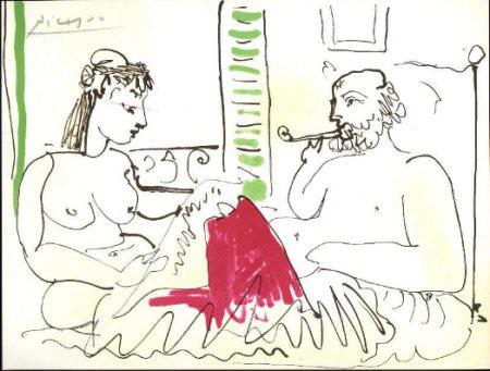 1967 homme et femme nue 1. Pablo Picasso (1881-1973) Period of creation: 1962-1973