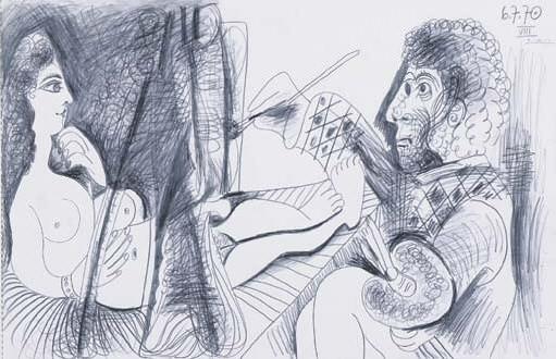 1970 Le peintre et son modКle 8. Pablo Picasso (1881-1973) Period of creation: 1962-1973