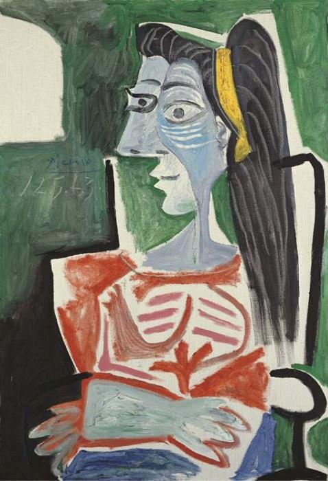 1963 Femme dans un fauteuil, les bras croisВs (Buste). Пабло Пикассо (1881-1973) Период: 1962-1973