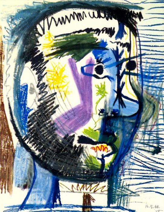 1964 TИte dhomme barbu Е la cigarette V. Pablo Picasso (1881-1973) Period of creation: 1962-1973