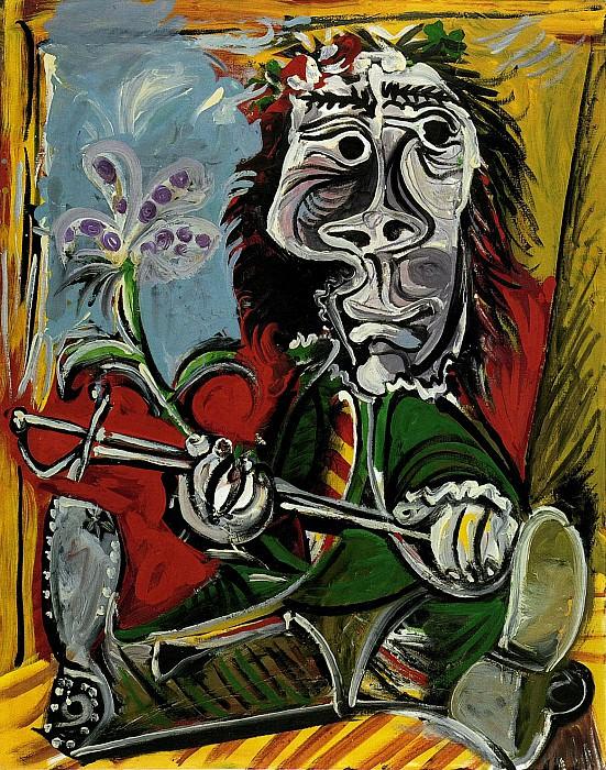 1969 Portrait de lhomme Е lВpВe et Е la fleur. Пабло Пикассо (1881-1973) Период: 1962-1973