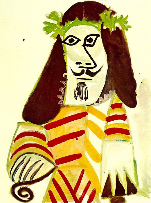1969 Homme Е la tИte laurВe. Pablo Picasso (1881-1973) Period of creation: 1962-1973