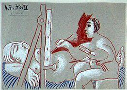 1970 Le peintre et son modКle 2. Pablo Picasso (1881-1973) Period of creation: 1962-1973