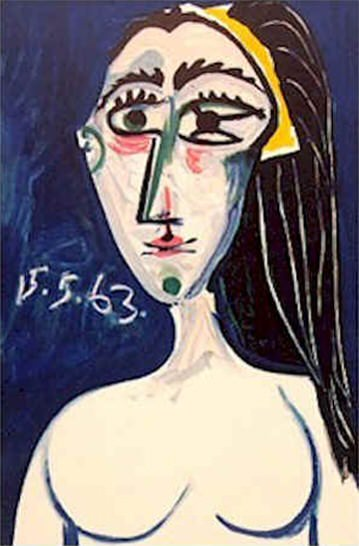 1963 Buste de femme nue. Пабло Пикассо (1881-1973) Период: 1962-1973