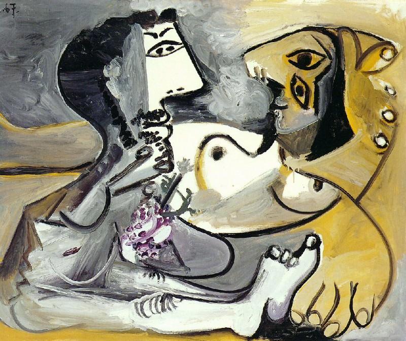 1967 Homme et femme nue 3. Pablo Picasso (1881-1973) Period of creation: 1962-1973