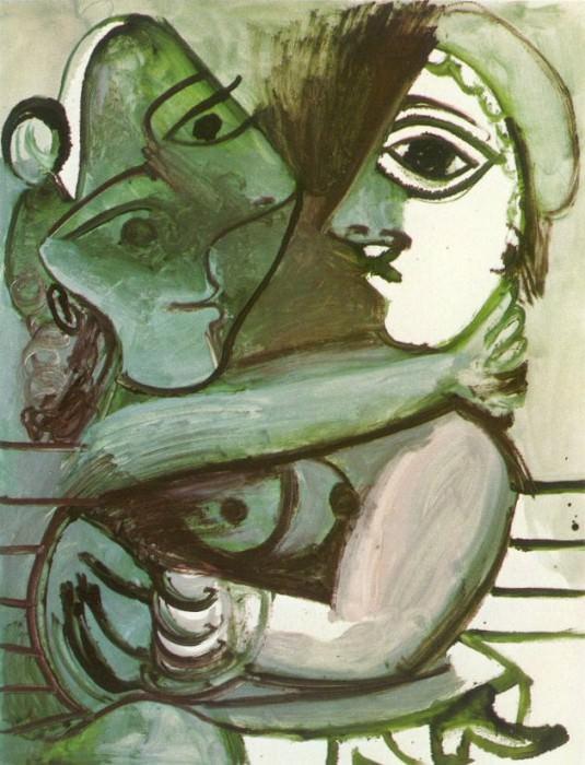 1971 Couple assis. Пабло Пикассо (1881-1973) Период: 1962-1973