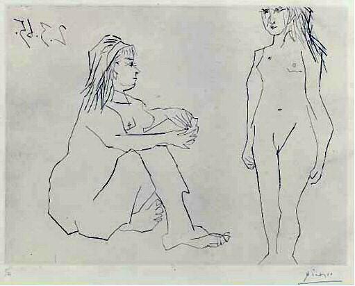 1965 Deux femmes 2. Пабло Пикассо (1881-1973) Период: 1962-1973