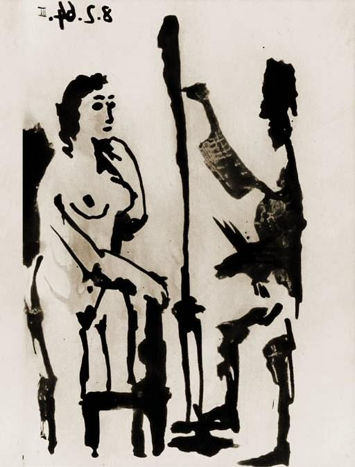1964 Peintre et modКle accoudВ III (Sable Mouvant). Pablo Picasso (1881-1973) Period of creation: 1962-1973