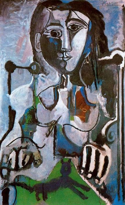 1964 Femme au chat assise dans un fauteuil 2. Pablo Picasso (1881-1973) Period of creation: 1962-1973