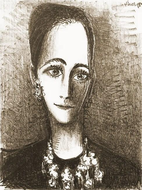 1964 Portrait de Mademoiselle Rosengart. Pablo Picasso (1881-1973) Period of creation: 1962-1973