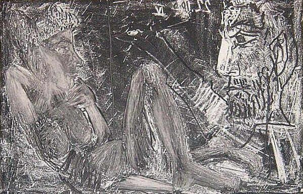 1966 Homme et femme. Pablo Picasso (1881-1973) Period of creation: 1962-1973