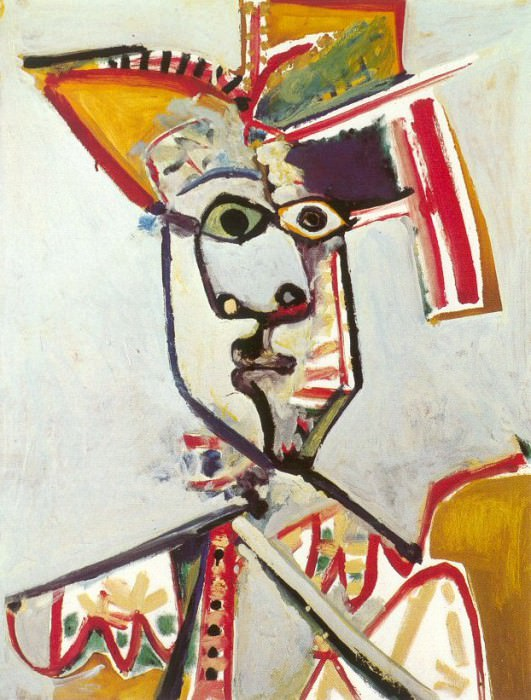 1971 Buste dhomme Е la flute. Pablo Picasso (1881-1973) Period of creation: 1962-1973