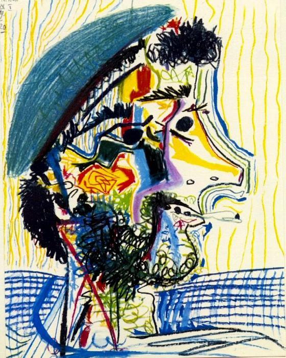 1964 TИte dhomme barbu Е la cigarette 1. Pablo Picasso (1881-1973) Period of creation: 1962-1973