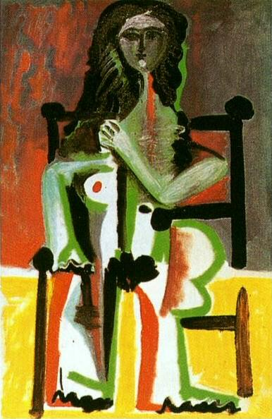 1963 Nu assis dans un fauteuil II. Pablo Picasso (1881-1973) Period of creation: 1962-1973