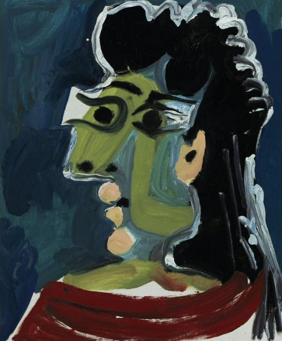 1965 TИte de femme 1. Pablo Picasso (1881-1973) Period of creation: 1962-1973