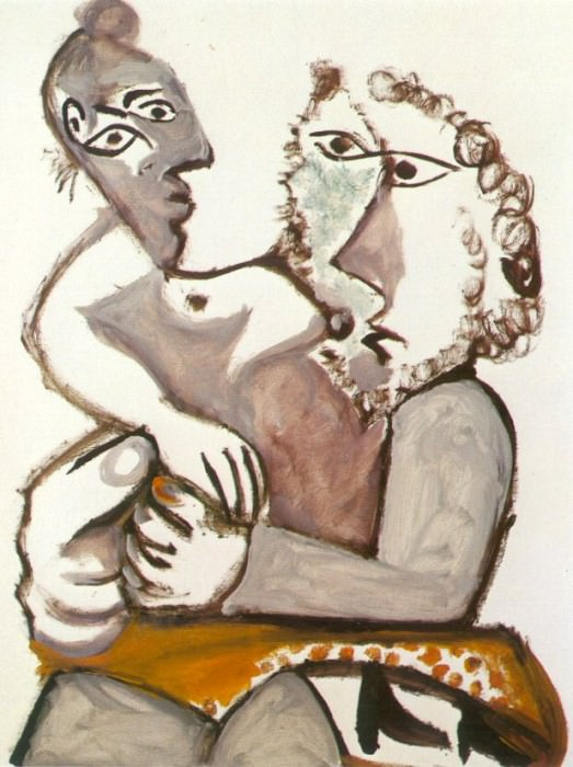1971 Couple assis 1. Pablo Picasso (1881-1973) Period of creation: 1962-1973