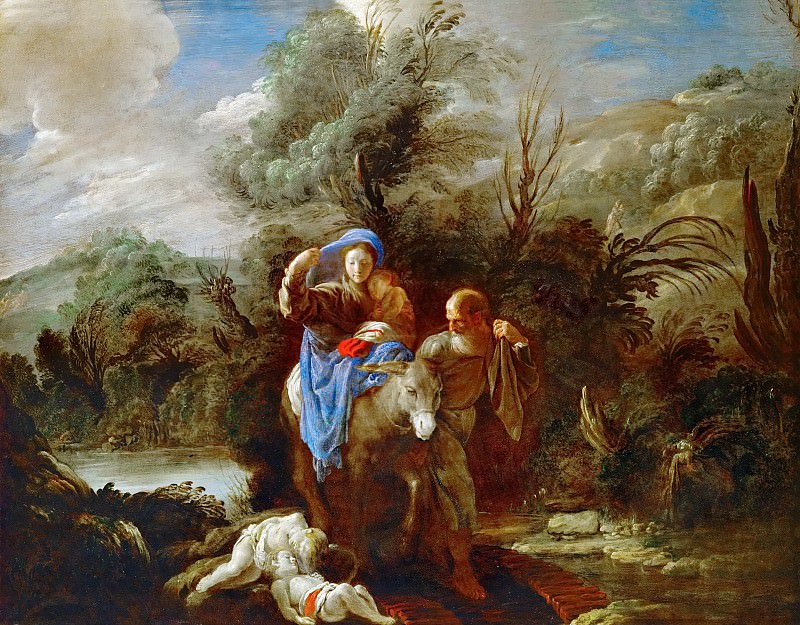 Domenico Fetti -- Flight into Egypt. Kunsthistorisches Museum