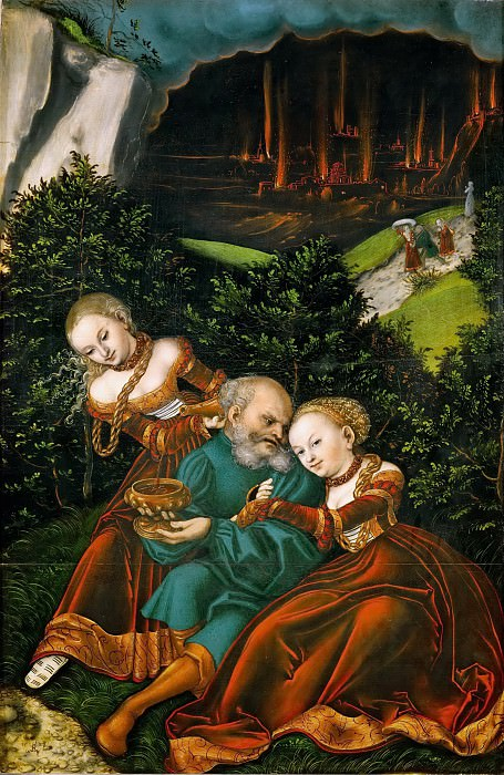 Lucas Cranach the elder -- Lot and his Daughters. Kunsthistorisches Museum