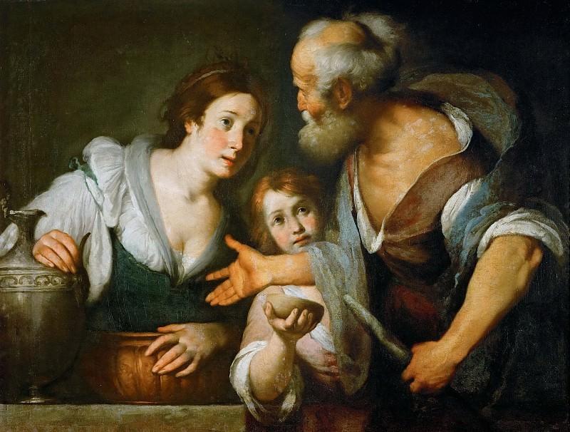 Bernardo Strozzi -- The Prophet Elias and the widow of Sarepta. Kunsthistorisches Museum