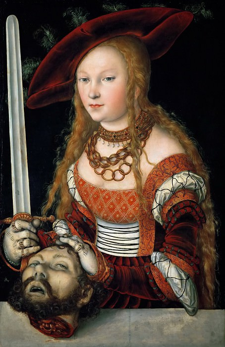 Lucas Cranach the elder -- Judith with the Head of Holofernes. Kunsthistorisches Museum