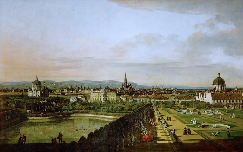 Bernardo Bellotto (1721-1780) -- Vienna Seen from the Belvedere. Kunsthistorisches Museum