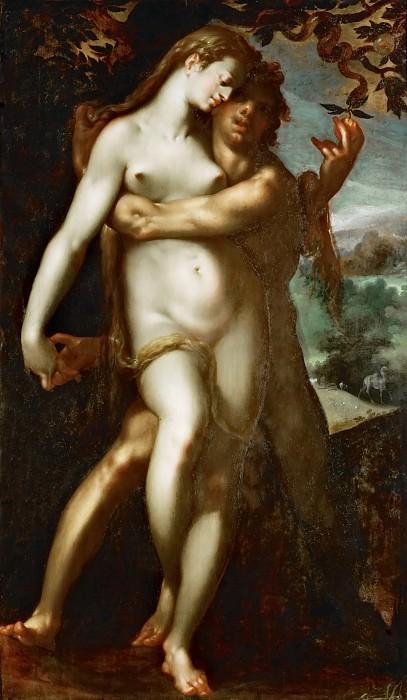 Bartholomaeus Spranger -- The Fall. Kunsthistorisches Museum