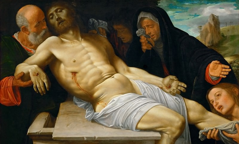 Giovanni Girolamo Savoldo (c. 1480-after 1548) -- Lamentation. Kunsthistorisches Museum