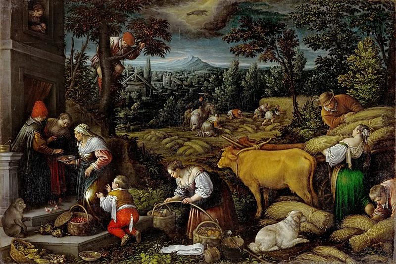 Leandro Bassano (1557-1622) -- June. Kunsthistorisches Museum