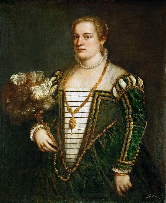 Titian -- Lavinia, daughter of Titian. Kunsthistorisches Museum