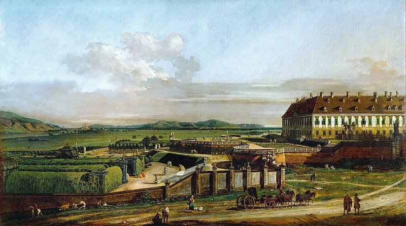 Bernardo Bellotto (1721-1780) -- Schlosshof Castle as Seen from the North. Kunsthistorisches Museum