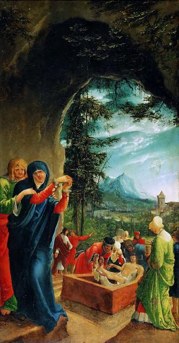 Albrecht Altdorfer -- Saint Sebastian Altar; Entombment. Kunsthistorisches Museum