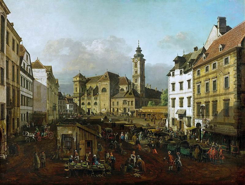 Bernardo Bellotto (1721-1780) -- The Freyung in Vienna, as Seen from the Southeast. Kunsthistorisches Museum