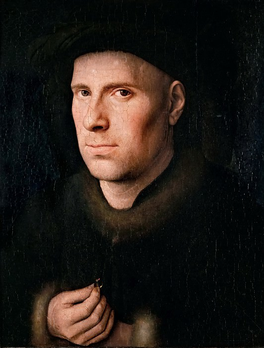 Jan van Eyck -- Portrait of Jan de Leeuw. Kunsthistorisches Museum
