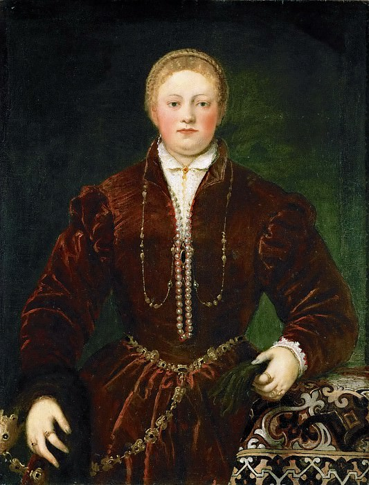 Attributed to Jacopo Tintoretto -- Portrait of a Young Lady. Kunsthistorisches Museum