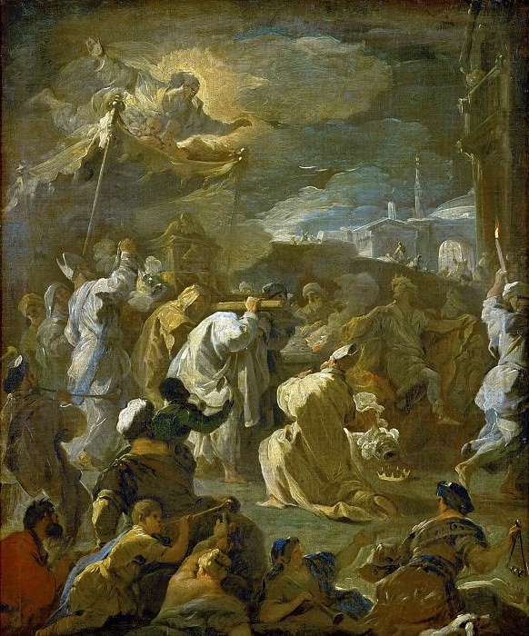 Luca Giordano -- David Brings the Ark to Jerusalem. Kunsthistorisches Museum