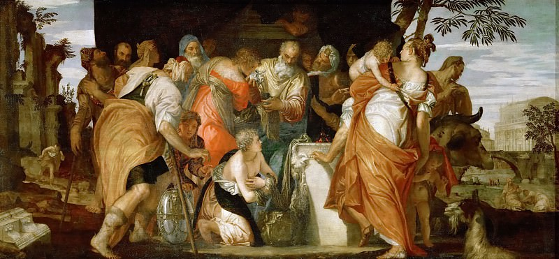 Paolo Veronese -- Anointing of David. Kunsthistorisches Museum
