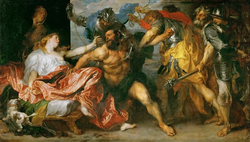 Anthony van Dyck -- Taking of Samson (Samson Made Prisoner). Kunsthistorisches Museum